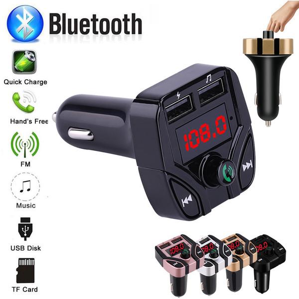 Mini lecteur MP3 Car Styling Transmetteur FM sans fil Auto FM Modulateur Bluetooth Prise en charge mains libres TF USB Musique