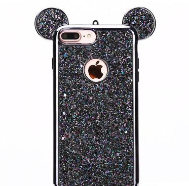 3D Mouse Ears Soft Case Cover case for Apple iPhone 6 6s Plus Luxury Glitter Bling Cell Phone Cases i6s plus cases