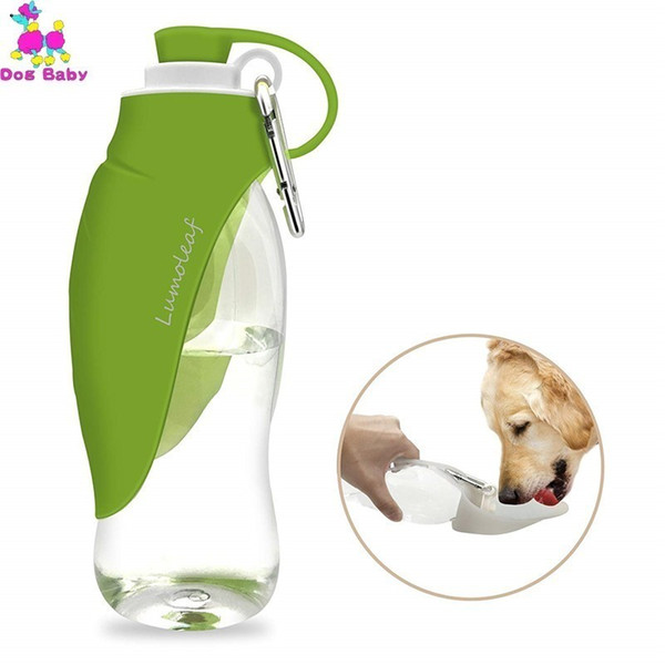 best selling 580ml Dog Water Bottle for Walking, Pet Water Dispenser Feeder Container Portable with Drinking Cup Bowl Outdoor Hiking, Travel T200101