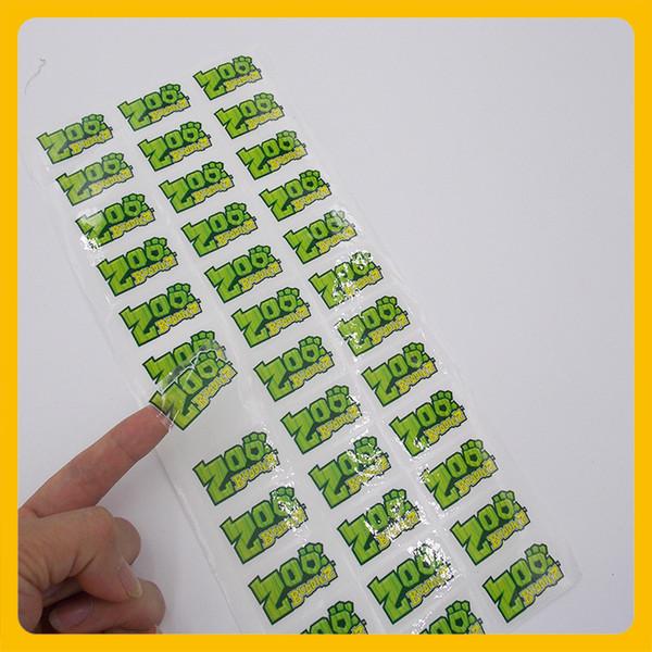 Etichetta adesiva trasparente logo personalizzata Etichetta adesiva trasparente traslucido etichetta adesiva in PVC trasparente per esterni