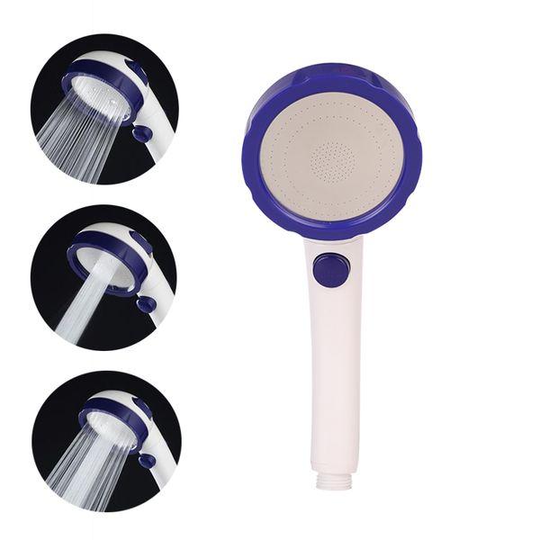 Cabezal de ducha de alta presión de la mano de alta presión de la precipitación del material plástico del ABS con el botón de 3 modelos