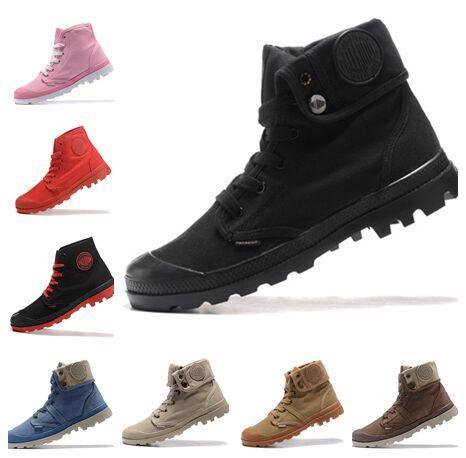 Palladium barato Free Run Pallabrouse Army Men alta del tobillo militar para hombre cargadores de las mujeres de la lona para mujer de las zapatillas de deporte zapato casual zapatos para hombre de diseño