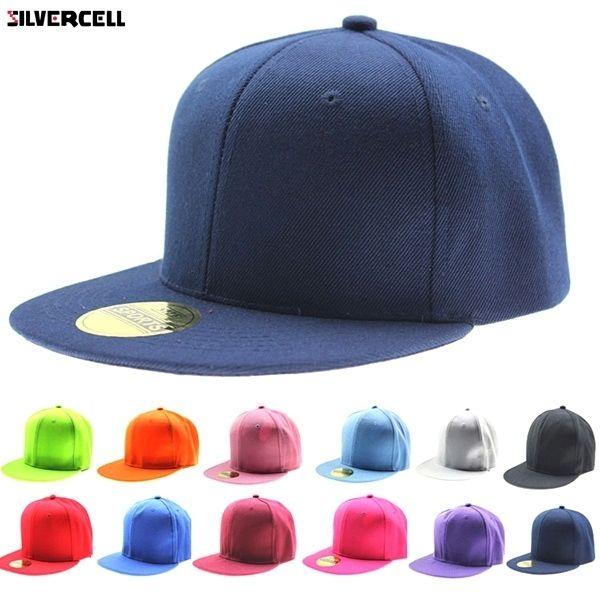 Мода Регулируемая Мужчины Женщины Бейсболка Твердые Хип-Хоп Snapback Плоская Шляпа Козырек D19011502