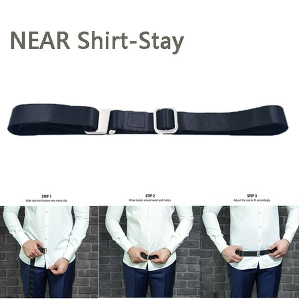 1pcs Non-slip Locking Clips Keep Shirt Locking Belt Adjustable Shirt Holder Strap For Women Men Stays Belt Party Supplies