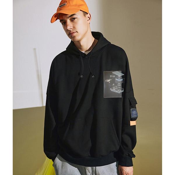 Tasarımcı Kazak Mens 2019 Erkek Sonbahar Yeni Gevşek Baskı Kapşonlu Marka Moda Hoodie Lüks Hip Hop erkek Giyim