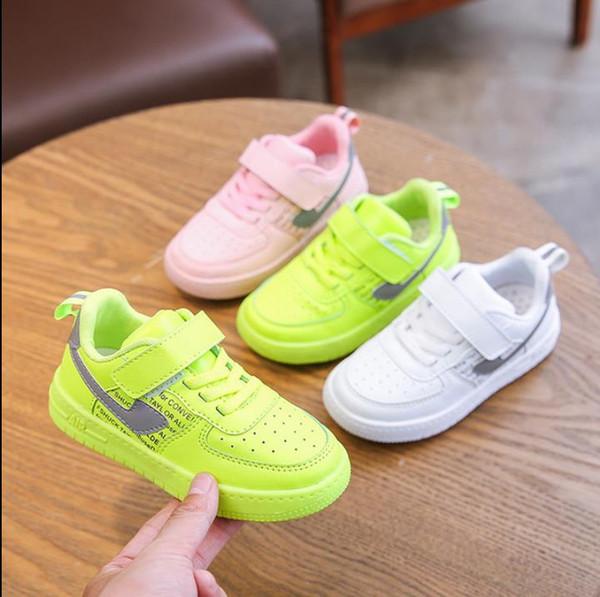 2019 sonbahar ve kış yeni koşu ayakkabıları Koreli Çocuk spor ayakkabı moda trendi nefes kadın ve erkek çocuk rahat ayakkabı