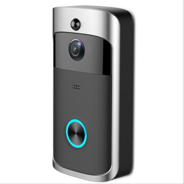 Sonnette Vidéo Wifi Avec Caméra HD 720P Carillon Intelligent WI-FI Interphone Porte Cloche Appel Vidéo Appel Pour Appartements IR Alarme Sans Fil Caméra De Sécurité