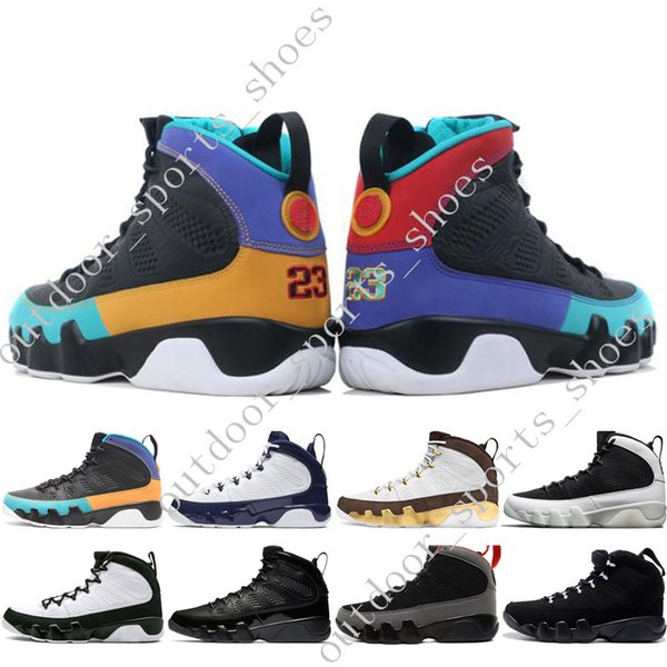 New 9 9s Dream It Do It UNC Mop Melo Mens Motorcycle Boots LA OG Space Jam men Bred All Black Anthracite sports sneakers designer size 40-47