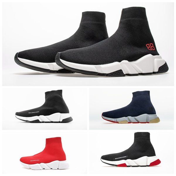 Acheter Adidas Balenciaga 2019 Nouveau Paris Vitesse Formateurs Tricot Chaussette Chaussures Original De Luxe Designer Hommes Femmes Baskets Pas Cher