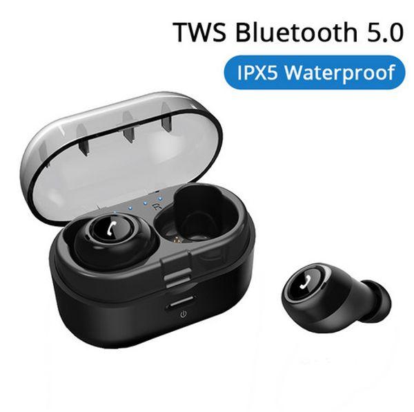 CP-7 TWS Bluetooth 5.0 Kopfhörer Drahtlose Ohrhörer Deep Bass 3D Stereo Headset Sport Freisprecheinrichtung Kopfhörer mit Dual Mikrofon für Telefon
