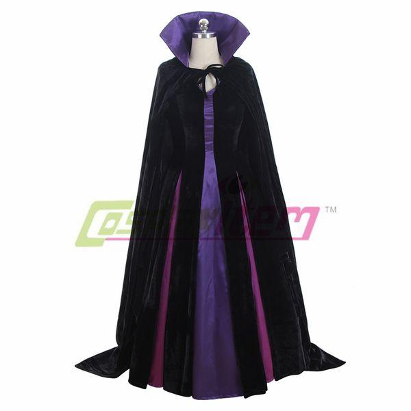 MALEFICENT from Sleeping Beauty Dress Costume Halloween cosplay Costume V02