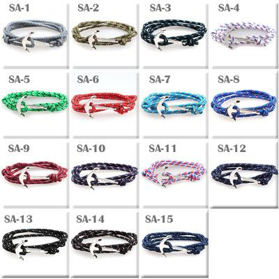 New Fashion pirate nautical navy anchor bracelet small fragrant wind woven simple bracelet K2958