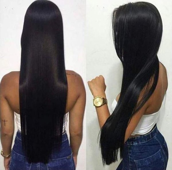 Full Lace Wigs 30 Inches Pre Plucked Long Straight Glueless Virgin Peruvian 28 30 In Lace Front Human Hair Wig For Women