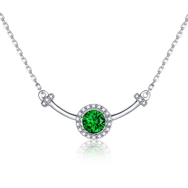 DOPPIO-R Creato Emerald Collane 925 gioielli in argento sterling Ciondoli per donne di fascino della pietra preziosa multa gioielli regalo di nozze