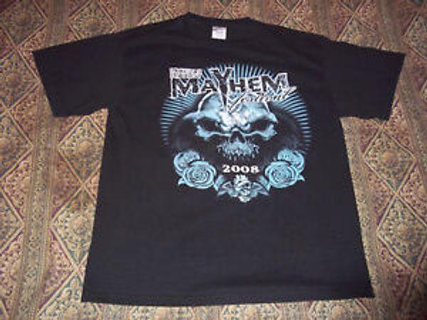Mayhem Disturbed Slipknot Machine Head Mastodon Dragonforce Airbourne T-Shirt