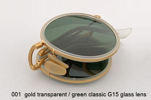 001 الذهب عدسة شفافة / G15