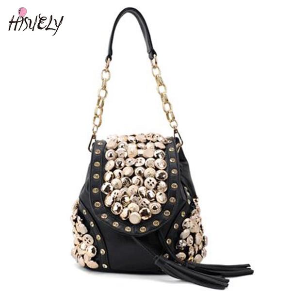 sacchetto di spalla zaino moda 2019 nuove donne sacchetto della moneta del tasto del diamante di modo zaino retro pacchetto della nappa pacchetto diagonale sacchi croce