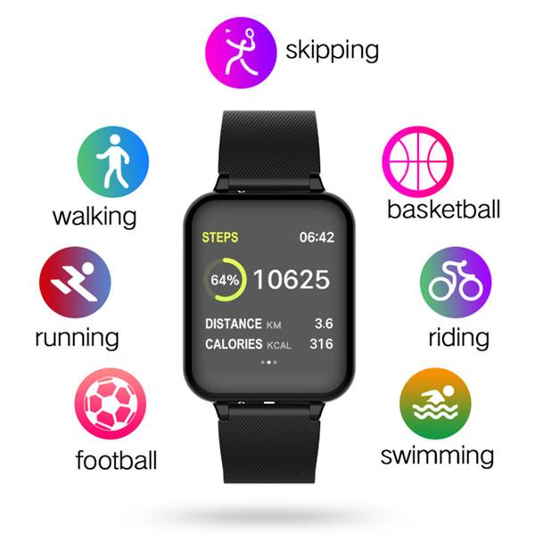 B57 Spor Akıllı Saatler Android İzle Kadın Erkek Su Geçirmez Akıllı İzle Ile Kalp Hızı Kan Basıncı Smartwatch