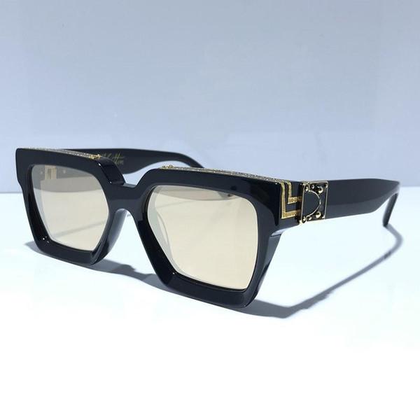 الذهب الأسود مع عدسة مرآة ذهبية