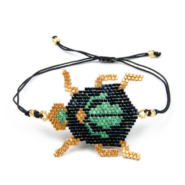 2019 New insect series beetle tassel bracelet Miyuki rice beads hand-woven