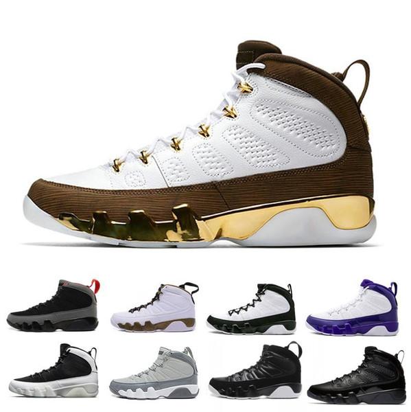 Nouveau 9 Bred LA Mop Melo 9s chaussures de basket-ball noir blanc baskets Cool Grey l'esprit Anthracite 2010 RELEASE chaussures d'entraînement de sport