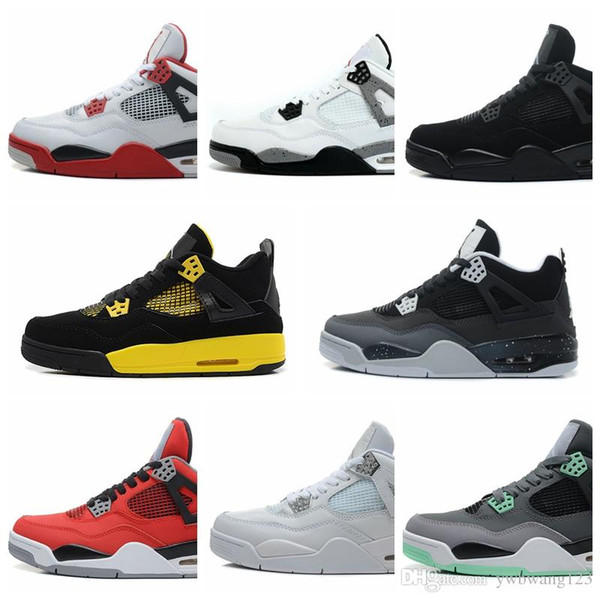 Nike Air Jordan Original AJ AJ4 New Bred 4 chaussures de basketball 4s noir rouge PALE CITRON chat PURE MONEY OREO ciment blanc ALTERNATE Wings mode hommes sport baskets