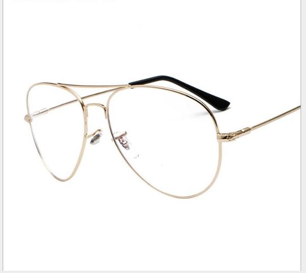 Glass Frame Ultra-light Myopia Glass Frame Men's Anti-blue Metal Flat Mirror Decorative Mirror