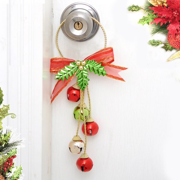 3pcs/set Christmas Hanging Decorations Door Hangers Drop Ornaments Jingle Bell Hangers Pendants for Xmas Tree Home Decor New
