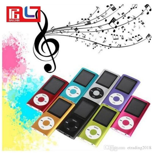 """Slim 4TH 1.8"""" LCD MP4 Player Earphone MP3 Music Player with 2gb TF Card iPods"""