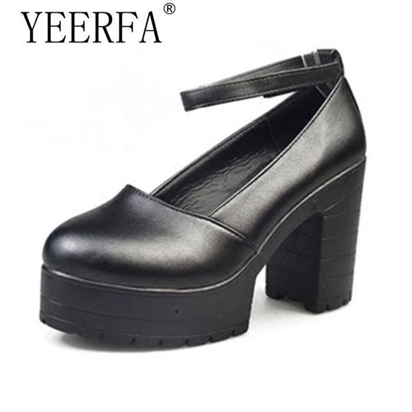 Dress Shoes Yeerfa Factory Outlet Big Spring Ladies Footwear Casual Thick Heels Platform For Girls Europe Women Hihg Heels Pumps