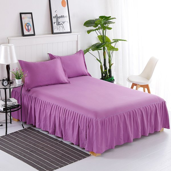 New Hot Elegant Design high quality winter thickened quilted bedspread 100% cotton fashion warm bed skirt Textile Bedclothes