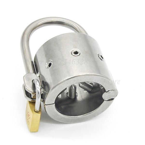 Нержавеющая сталь зубы петух кольцо кулон мошонка яичко бондаж, мужской пояс целомудрия, пенис замок, БДСМ игры для взрослых Секс-Игрушки для мужчин Y19070602