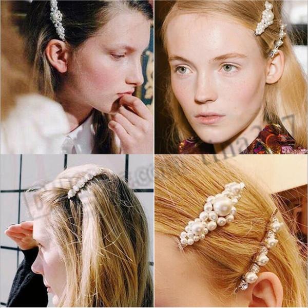 Korean Pearl Hair Clip Adult side clip hairpin One Word Clip LiuHai Net Red Hair Card Fashion Headdress T9C0084
