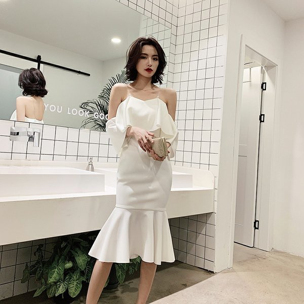 Off Shoulder White Oriental Style Banquet Dresses Chinese Vintage Traditional Wedding Cheongsam Elegant Evening Party Gowns