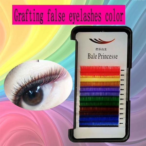 Grafting false eyelashes color grafting eyelashes colorful mixed hair soft comfortable grafting effect natural variety of length warping opt