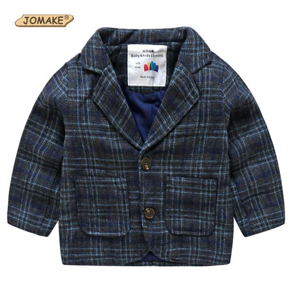 JOMAKE Printemps Automne Garçons Casual Plaid Costume Formel Veste Vêtements Enfants Vêtements de Dessus 2-10 Ans Homme Mâle Enfants Beau Blazer