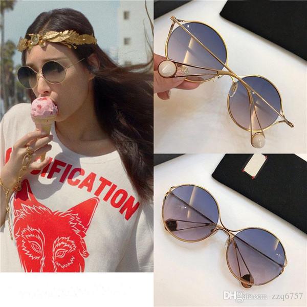 Nouvelles lunettes de soleil de designer de mode 0253 Cadres spéciaux en métal rond Lunettes et lunettes de soleil Lunettes de soleil de qualité supérieure avec la boîte originale en gros