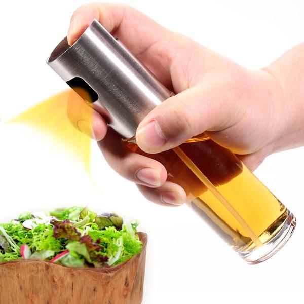 Olivenöl Sprayer für BBQ, Braten, Salat, Backen -Edelstahl Sprayer Glasflasche - Lebensmittelqualität Kochen Spray versandkostenfrei