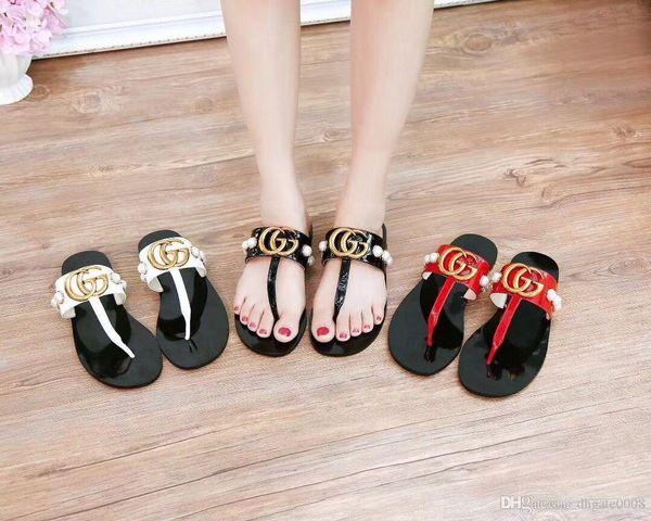 yinjixian / 2018 hot NEW Europe Brand Fashion womans striped sandals causal Non-slip summer huaraches slippers flip flops slipper BEST