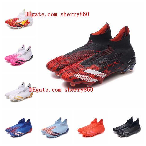 best selling 2020 new arrival mens soccer cleats Predator Mutator 20+ FG soccer shoes football boots Shadow Mode botas de futbol blackout