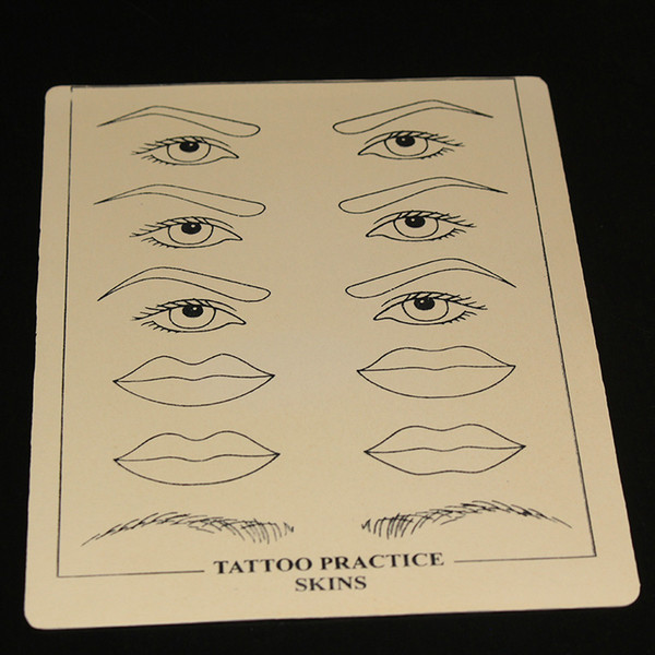 Yilong Yilong A venda quente 5pcs / lot composição permanente lábios Sobrancelha prática da tatuagem Formação Pele Set For Beginners