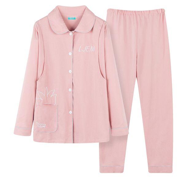 Maternity Nursing Pajamas Breastfeeding Shirt+ Pregnancy Pants Clothes for Pregnant Women Sleepwear Lounge Sets Spring Pink Blue