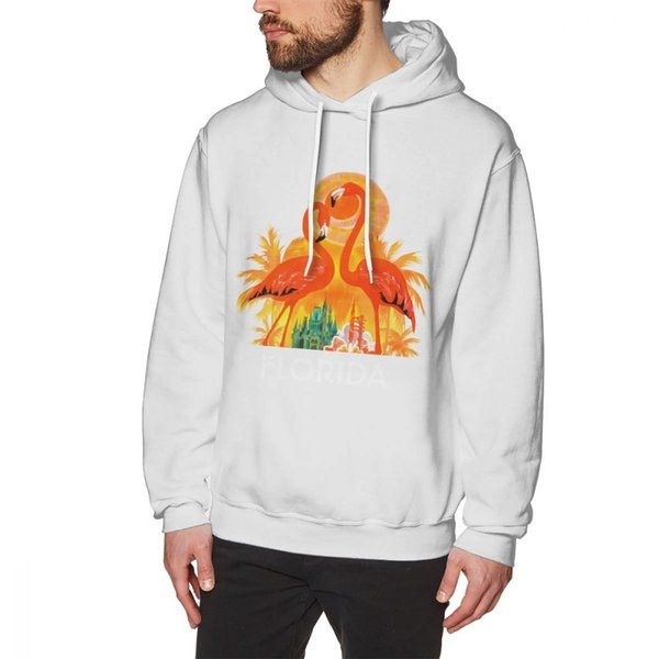 Flamingo Long Sleeve Anime Cute animal hoodies Round Collar Plus Size Nice Popular Sweatshirt Round Neck