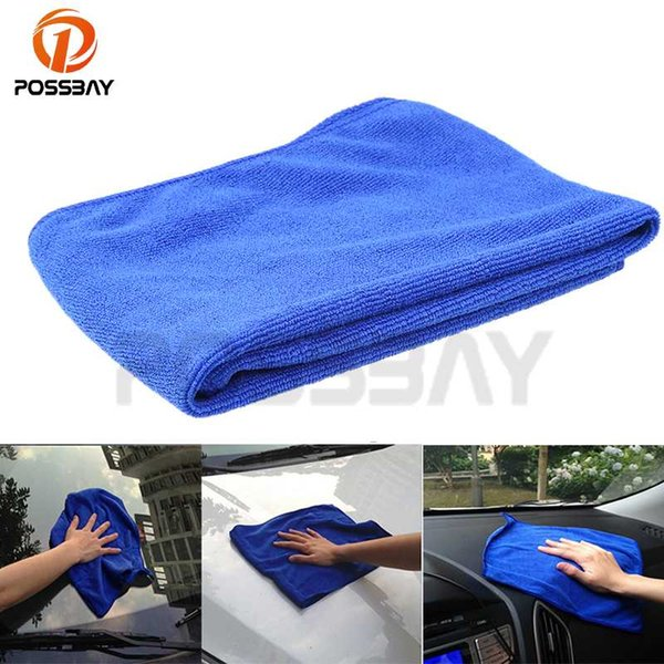 POSSBAY 30x30/60x30/63x33cm Common Blue Soft Absorbent Wash Cloth Washing Towel Home Auto Car Care Microfiber Car Cleaning Cloth