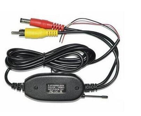 2.4 GHz Kablosuz Video Arka Kablosuz 2.4 Ghz RCA Video Verici Alıcı Kiti Araba Oyma Kamera Ücretsiz Nakliye için