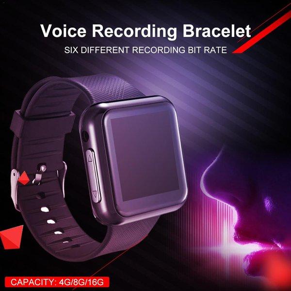 Dijital Ses Kayıt Bileklik Bileklik İş Ses Kayıt Kulaklık MP3 Desteği 28 Menü Dil İşlemleri Saat
