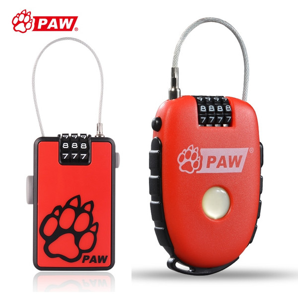 PAW Mini Bike Bicycle Lock Helmet Bag Steel Wire Cable hook Lock Anti Theft Password Cycling Buckle Safety Security Locks #26086