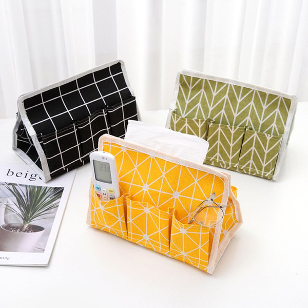 Modern Style Home Tissue Box Quadrille Cloth Napkin Box Waterproof Toilet Paper Box Napkin Holder 100 Pieces DHL