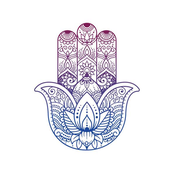 Bouddhiste Main Sticker Protection Yoga Vinyle Fier Personnalité Voiture Accessoires Décoration