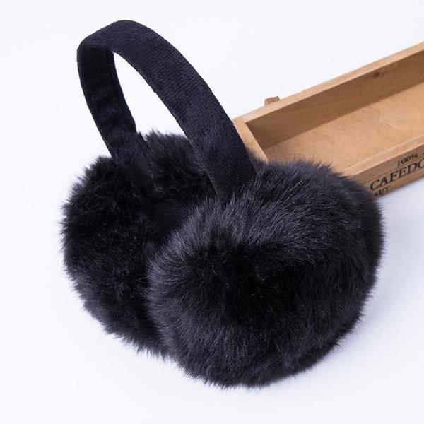 Оптово-Мода Кролика меховые женские наушники для бренда зимние наушники удобные теплые крышки уха Утеплители уха для девочек Регулируемый